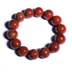 缘木醒石  纯手工战国红手串  规格17mm 14颗  重量约88g  黄金珠宝玉器战国红