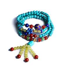 一品珠宝 绿松手链四圈 尺寸5*5 重量 19.2g