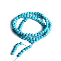 一品珠宝 绿松手链项链 尺寸6*6 重量22.6g