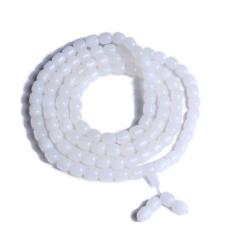 海玉砗磲  精品108粒桶珠 88g 玉化 微瑕
