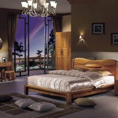 河南南阳 步园 典木轩   幸福床加2个床头柜