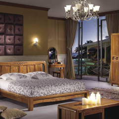 河南南阳 步园 典木轩   大床加2个床头柜