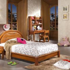河南南阳 步园 典木轩      儿童套1米2床加一个床头柜  书台 二门衣柜