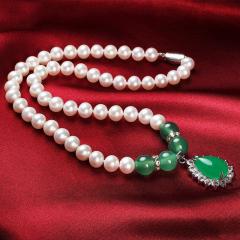 珍珠项链送妈妈 天然淡水珍珠项链