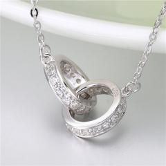 銀項鏈  明星同款  女韓短款鎖骨鏈女簡約心形吊墜925配飾首飾生日禮物