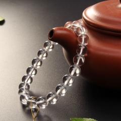 白水晶手鏈  男女款佛珠手串飾品 精選節日禮物