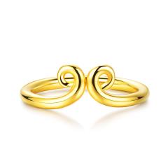 黃金緊箍咒戒指 足金猴年男女款珠寶戒指 1.48g