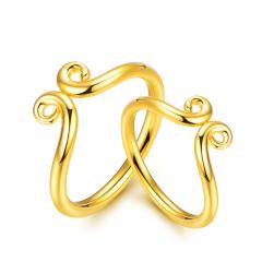 黄金紧箍咒戒指 足金猴年男女款珠宝戒指 1.48g 1.48g
