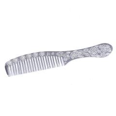 白银 牡丹银梳子 29克 S990
