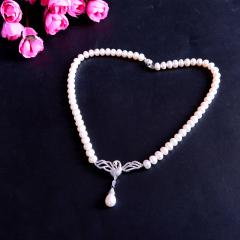 天然淡水珍珠項鏈 天鵝配飾 楊瀾同款