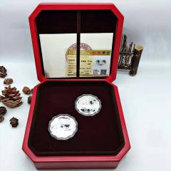 金秋银月饼 花好月圆银月饼999纯银月饼精致银饰品15g/枚 15克/枚 共2枚