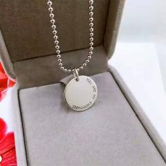 宝中皇S925纯银项链 私人订制吊坠 男女情侣个性原创银牌 带链