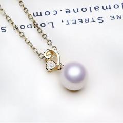 寶中皇唯美淑女風范兒   銀鑲嵌3色愛心8mm項鏈 送親人 送愛人 銀色