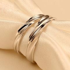 925银饰品情侣戒指对戒一对活口男女日韩版学生生日礼物