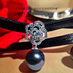 大溪地黑珍特惠价备战双十一时尚火爆款项圈 珍珠10-11mm