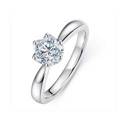 宝中皇 女皇款唯美戒指30分女款钻戒