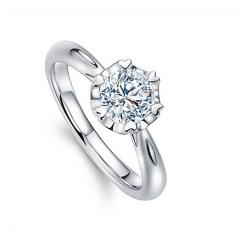 戀愛紀白18K金女款30分戒指