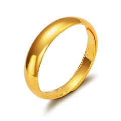 黄金戒指足金男女款光圈蛇肚戒F001619 约3.6克-3.7克 约3.6-3.7g