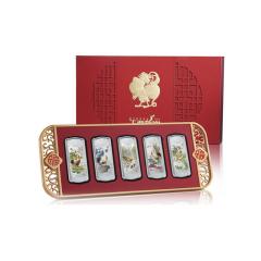 钱币2017鸡年生肖彩色银条5枚套装 20克x5银条 鸡年宝泉银条