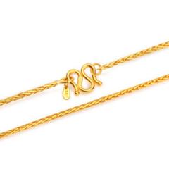黄金项链足金项链女款肖邦链F00144 约5.39克