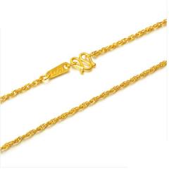 黄金足金项链女款唯美绞丝链F001454 约3.61克-约3.66克