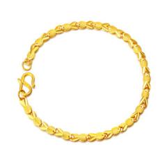 黄金足金手链女款鱼型手链F001234 约7.8-7.9克