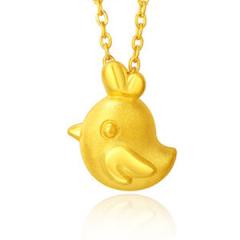 黄金吊坠 999足金3D硬金小鸡甜心吊坠F001177 约1.99-2.09克