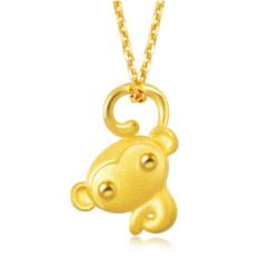黄金(足金)大眼猴吊坠 88422P(含工费100元) 约1.66克
