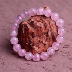 粉水晶单圈手链 11--12mm  时尚饰品