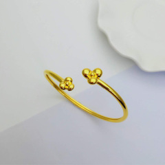 3D硬金999足金 黃金 個性手鐲 女時尚開口手鐲 時尚精品手環 約7g