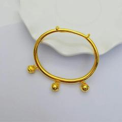 3D硬金999足金 黃金 鈴鐺手鐲 推拉手鐲 寶寶手鐲  時尚精品手環 約7.8g
