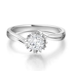 求婚结婚钻戒 正品30分钻石戒指女戒白18K  GIA国际证书