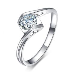 天使之吻钻戒 女 正品钻石戒指 求结婚订婚 30分钻戒  GIA国际证书