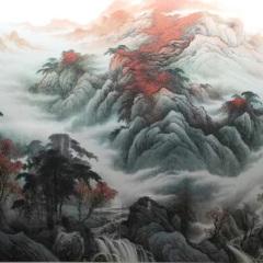 陳忠洲山水畫  《鴻運當頭》收藏  可定制  按平尺計算