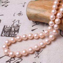 美林珍珠 粉色微瑕 10mm 珍珠项链