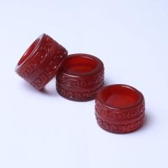 珍雅玉轩  精美天然玛瑙 古艺工艺满工雕刻玛瑙板指
