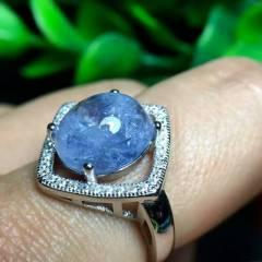 晶之缘水晶 懂货的速来 ? 蓝发晶有多稀有多珍贵 水晶 ? 矿洞?#23458;?#27605;塌 超美 925银包边活口