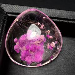【稀罕货】薰衣草紫幽灵水晶吊坠 随意型吊坠紫色是王者的颜色 花的海洋 紫色代表贵 是贵族的颜色
