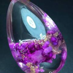 薰衣草紫幽灵 水晶吊坠 随意型吊坠紫色是王者的颜色花的海洋 紫色代表贵 是贵族的颜色