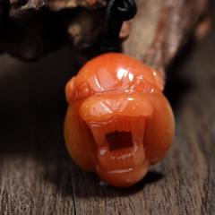 纯天然红水晶豹头,无优化无瑕疵,纯手工雕刻,招财辟邪,保平安