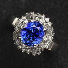 沃晶的世界\绝美豪华斯里兰卡蓝宝 戒指 13000