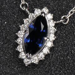 沃晶的世界   精致蓝宝锁骨链