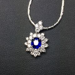 沃晶的世界  絕美豪華皇家藍寶石吊墜  送金項鏈