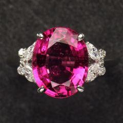 沃晶的世界  绝美卢碧莱碧玺,pt900铂金镶嵌  宝石戒指