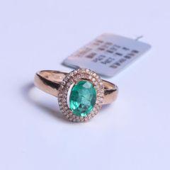 大自然水晶珠宝商行 18K金镶钻祖母绿戒指