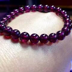 春美水晶  新年好禮美容養顏的紫牙烏石榴石7.2毫米19克