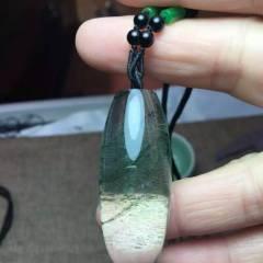 虹润珠宝商行  天然绿幽灵转运珠吊坠,水晶吊坠【寓意财源滚滚,有球必应,转运珠】晶体干净通透