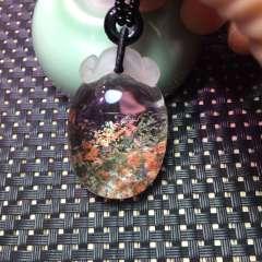 天然花幽灵雕刻如意龙8国际备用官网,水晶龙8国际备用官网【寓意是吉祥如意平平安安】晶体干净通透,颜色鲜艳,做工精细,
