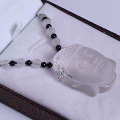 福灵水晶 白水晶佛首