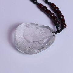 福灵水晶 白水晶佛(钱币)